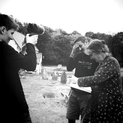 Filimg with Prof Madaleine Gray, Llancarfan, Wales