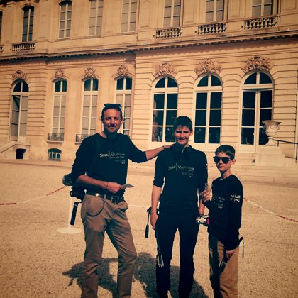 At the Elysees Palace after an interview with President Ferrand