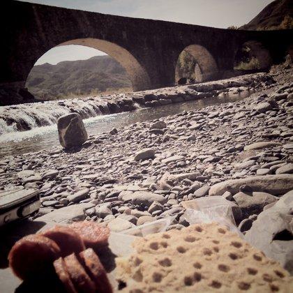 The Roman bridge over the Trebbia at Bobbio
