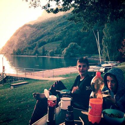 Dinner on Lake Walensee, Switzerland
